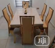 Quality Marble Dining With 6 Chairs | Furniture for sale in Lagos State, Lekki Phase 2