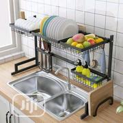Stainless Steel Rack With Double Sink Drain Rack | Kitchen & Dining for sale in Lagos State, Lagos Island