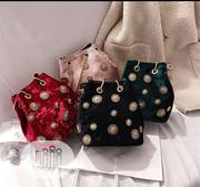 Suede Flowered Bag | Bags for sale in Imo State, Owerri