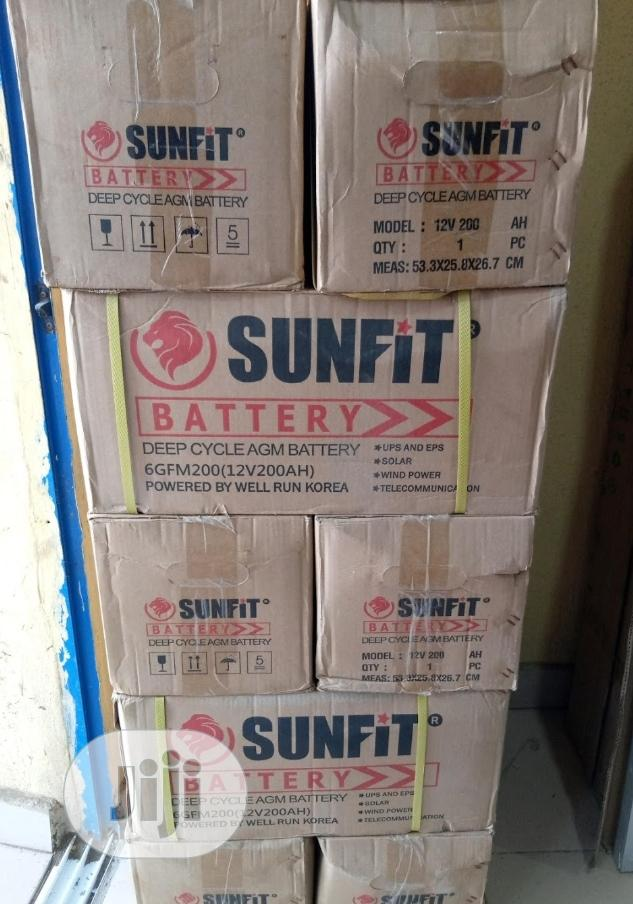 12v 200ah Sunfit Battery Available