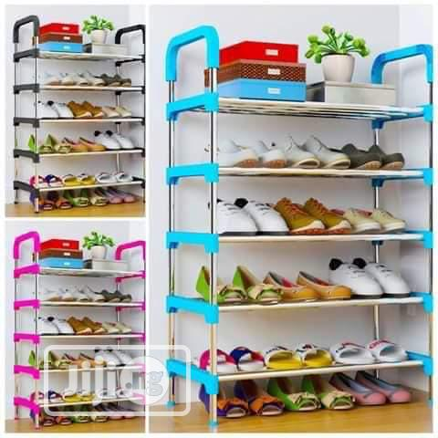 5 Layer Stainless Shoe Rack