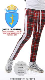 Red Plaid TRACKPANT Outfit | Clothing for sale in Lagos State, Victoria Island