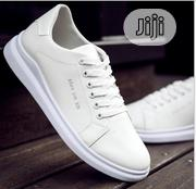 Smart Fashion Breathable Men Sneakers/Canvas - White | Shoes for sale in Lagos State, Magodo