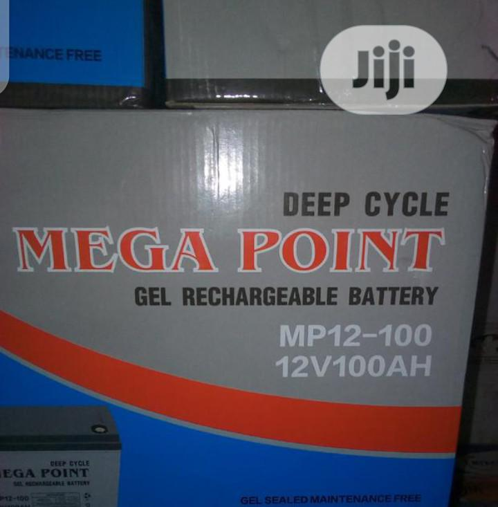 100ahs 12volt Mega Point Battery | Electrical Equipment for sale in Ojo, Lagos State, Nigeria
