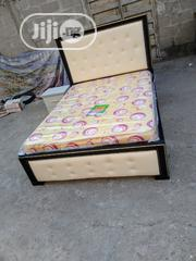(4*5×6) Bedframe With Original Mouka Matrass With One Bedside   Furniture for sale in Lagos State, Ojo