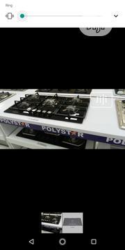 Brand New Polystar Cooker Cabinet Gas 5 Burners Automatic 3 YEARS | Kitchen Appliances for sale in Lagos State, Ojo