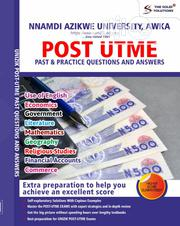 Nnamdi Azikwe University, Awka Post UTME Past Questions/Answers | Books & Games for sale in Lagos State, Oshodi-Isolo