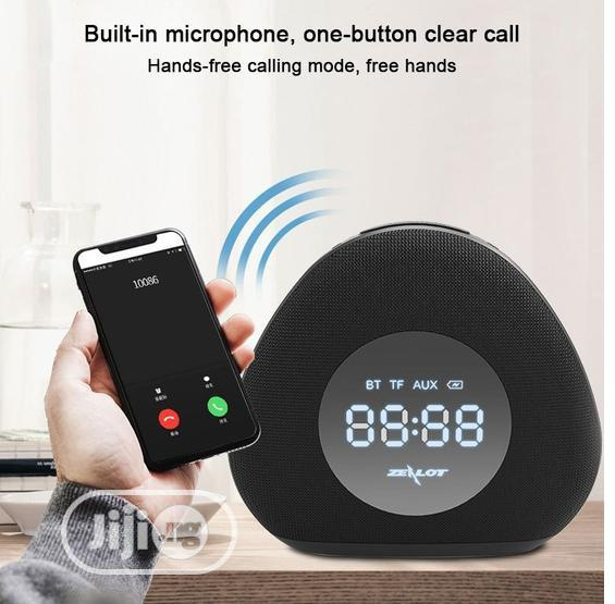 Zealot S23 Clock Wireless Speaker With Double Alarm & Night Light | Home Accessories for sale in Ikeja, Lagos State, Nigeria