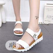 Soft Leather Sandals For Women White | Shoes for sale in Abuja (FCT) State, Gwarinpa