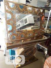 Good Quality Console Table And Mirror Gold Color | Home Accessories for sale in Lagos State, Lekki Phase 1