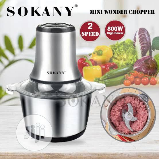 3 Liters Sokany Stainless Food Prosessor | Kitchen Appliances for sale in Lagos Island, Lagos State, Nigeria