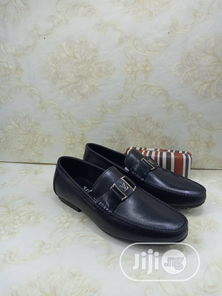 Leather and Suede Loafers Flat Shoes