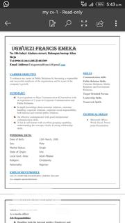 Health & Beauty CV | Health & Beauty CVs for sale in Lagos State, Ikeja