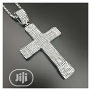 Hip-hip Gold Color Classic Charm Large Cross Full Iced Out Bling Bling | Jewelry for sale in Lagos State, Surulere