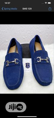 Blue Suede Feragramo Shoe With Chain Finish | Shoes for sale in Oyo State, Ibadan