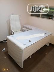 White Office Table And Chair Very Good Qulity | Furniture for sale in Lagos State, Ojo