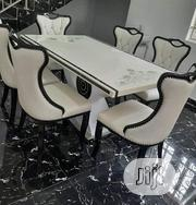 New Cristal Marble Dining Table With Six Chair | Furniture for sale in Rivers State, Port-Harcourt