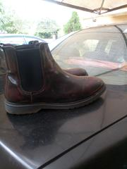 Asos Wide Fit Chelsea Boot In Burgundy Leather | Shoes for sale in Delta State, Oshimili South