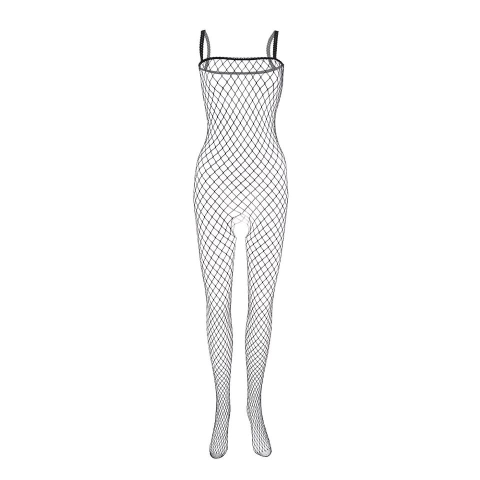 Spandex Crotchless Ladies Bodystocking Lingerie