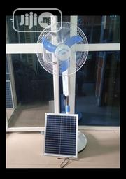 Original Solar Rechargeable Standing Fan DC And AC With Solar Panels | Solar Energy for sale in Lagos State, Magodo
