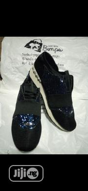 Black Sneakers With Blue Glitters | Shoes for sale in Lagos State, Surulere