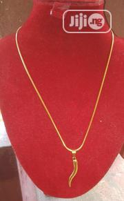 Tiny Chain Necklace With Pendant | Jewelry for sale in Lagos State, Yaba