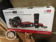 Focusrite Scarlett Sound Card With Headphone ,Plugs And Mic | Headphones for sale in Lagos State, Ojo