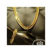 Cuban Link Chain With Bracelet   Jewelry for sale in Lagos State, Surulere