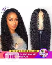 Long Curly Human Hair Wig With Closure | Hair Beauty for sale in Lagos State, Ikeja