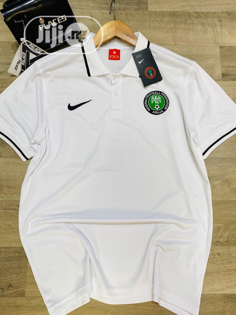 Nigeria Super Eagles Official White Polo Shirt | Clothing for sale in Surulere, Lagos State, Nigeria