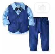 Boys 4pcs Long Sleeve, Stripe Jacket and Trouser Clothing Sets   Children's Clothing for sale in Lagos State, Agboyi/Ketu