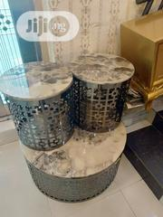Unique Center Table With 2 Sides Stools | Furniture for sale in Lagos State, Victoria Island