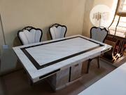 Marble Dining By 6 Seaters White | Furniture for sale in Lagos State, Amuwo-Odofin