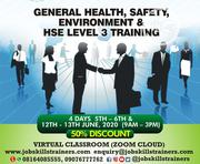 General Health, Safety Environment Training (Hse Level 1 2 of 3)   Classes & Courses for sale in Lagos State, Oshodi-Isolo