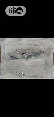White Fila Chunky Heels Canvas | Shoes for sale in Lagos State, Shomolu