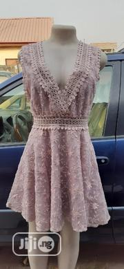 Lace Deep v Neck Gown | Clothing for sale in Lagos State, Surulere
