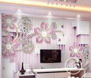 Custom Pink Luxury 3d 5d 8d Wall Mural Design In Lagos | Home Accessories for sale in Lagos State, Yaba