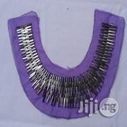 Tailornimi Silver Straight Beads With Purple Mesh | Clothing for sale in Lagos State