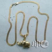 Brand New ITALY 750 Pure 18krt Gold Carpet Wit Elephant Pendant | Jewelry for sale in Lagos State, Lagos Island